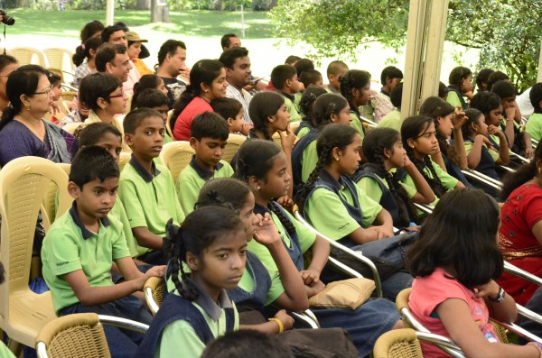 The children interact with Justice Seth.